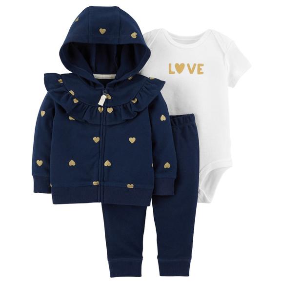 Carter/'s NWT 12M Infant Girl Tropical Little Jacket Bodysuit Pant Set